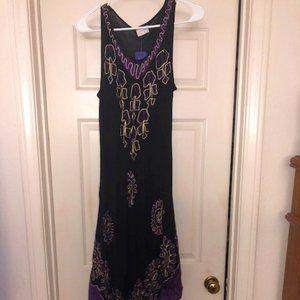 Black & Purple Long Dress